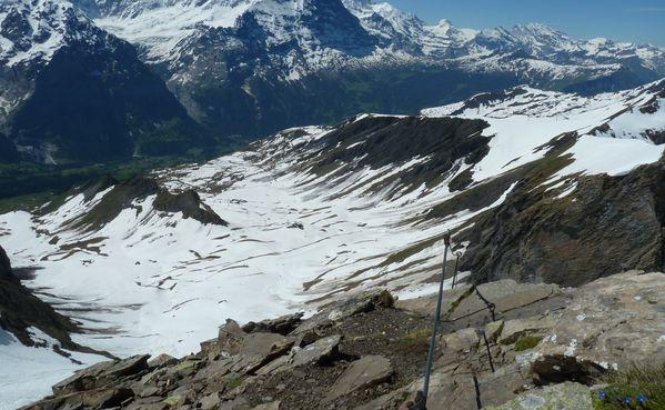 Klettersteig Lauterbrunnen : Klettersteig schwarzhorn grindelwald wengen mürren