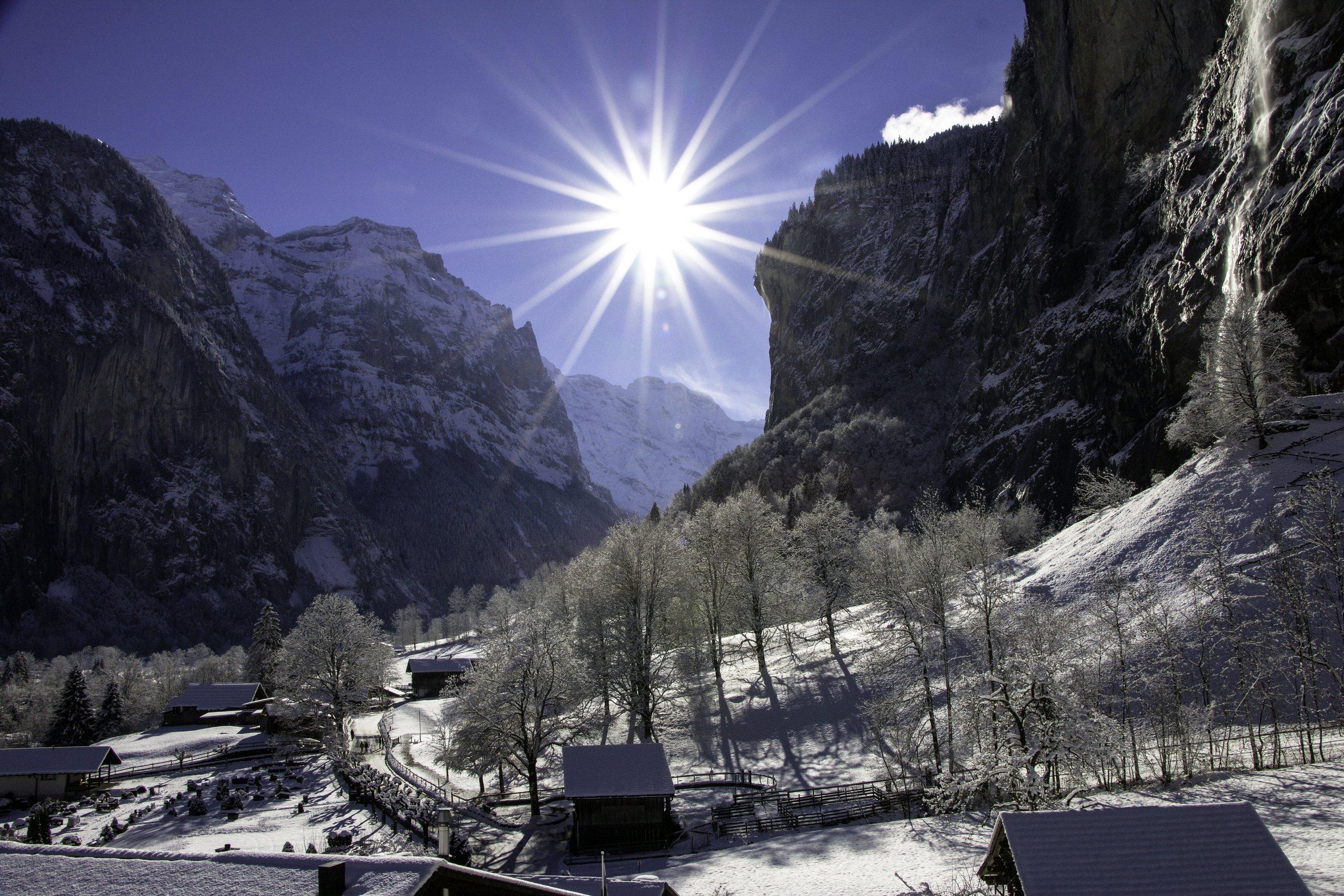 Langlauf Lauterbrunnen Grindelwald Wengen Mrren